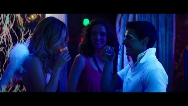 Halston Sage Sensual kisses of two girls and a guy Hot Scene