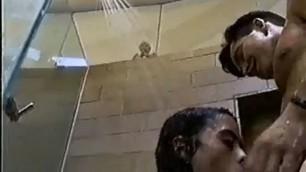 Salma Hayek Passionate sex in the shower Sex Tape