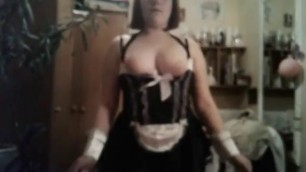 Maid Girl In Cosplay Costume Cum In Throat