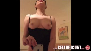 Leaked Nude Attractive Brunette Rose McGowan Celebrity Pussy