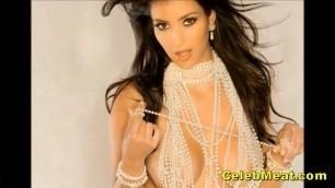 Beautiful Kim Kardashian Nude Celebrity Shaved Pussy