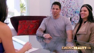 Husband celebrates his birthday at the swingers mansion