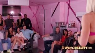 Fun couple celebrates husband's birthday at the swing house