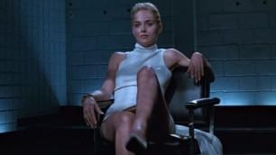 Sharon Stone Basic Instinct - Greatest Celeb Pussy Slip ever !!! Celebrity Oscar Casino Background