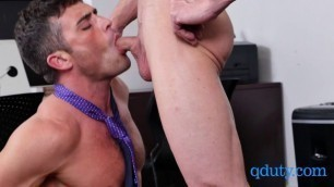 Boss celebrates his employees birthday with a hot threesome