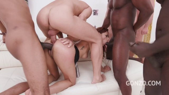 Redhead Slut Veronica Leal - LPs top model Veronica Leal gets anal gangbanged for you to celebrate new year (dry version) SZ2362