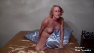 Satin Pillow Humping and Orgasms with Hottie Brittany Lynn