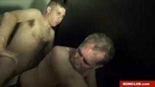 Dude Gang-Banged in the Sauna