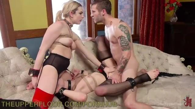 Bad Girls get Punished in BDSM Threesome