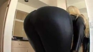 Blond in Black Catsuit