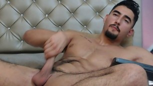 Handsome Hunk Jerking Off & Cock Close-Up - Special