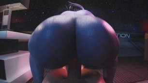 Liara T'soni Reverse Cowgirl (Animation With Sound)
