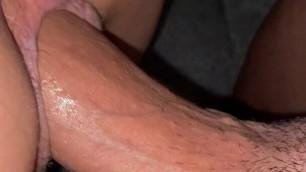 My girlfriend fucking a huge big cock